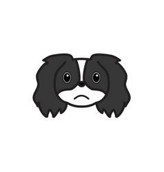 pekingese emoji unhappy multicolored icon signs vector image