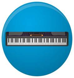 Piano synthesizer icon flat vector image