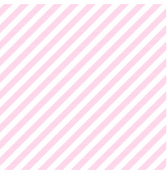 Pink baby color striped fabric texture seamless vector