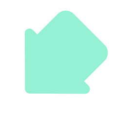 pointer arrow in modern flat style arrow button vector image