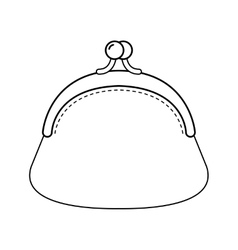 Purse Flat linear of object Fashion vector image