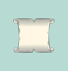 Ribbon wide banner sketch vector