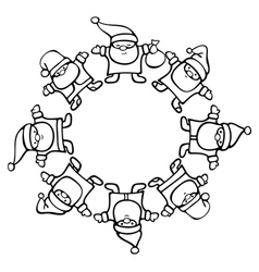 Santa clauses circle vector