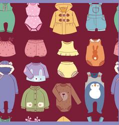 Seasonal infant clothes for kids babyish fashion vector