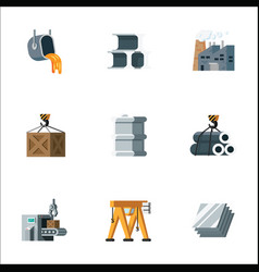 simple set metal production and metalworking vector image