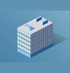 Single building isometric 3d dimensional house vector