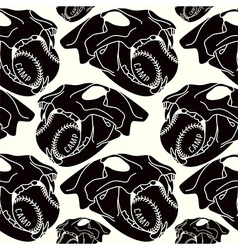Skull animal seamless pattern vector image vector image