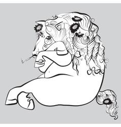 Smoking horse vector