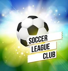 Soccer football poster Bright bokeh background vector