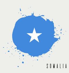 somalia watercolor national country flag icon vector image