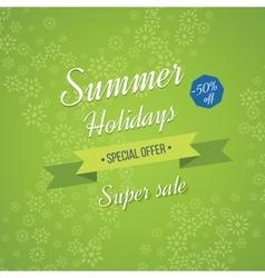 Summer holidays background Sale banner vector image
