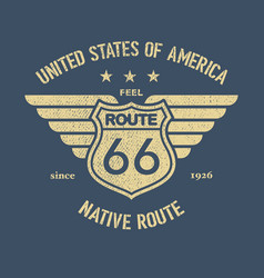 The great american road vector