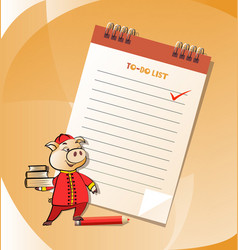 To-do list and business pig vector