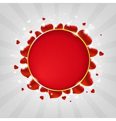 Valentines Day With Hearts And Sunburst vector