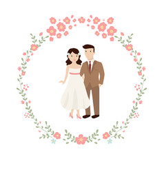 wedding couple bride and groom wedding couple vector image