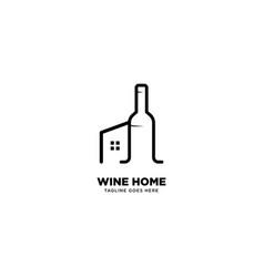 Wine home logo template icon element vector
