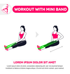 workout with mini band vector image