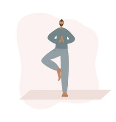 Yoga studio asana pose people vector