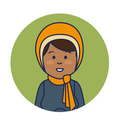 Young indian woman avatar character vector