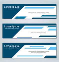 abstract blue banners templates vector image vector image