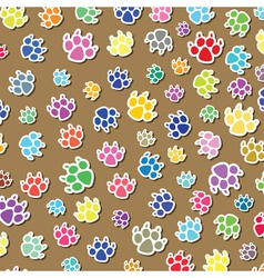 colorful dogs foot prints vector image vector image