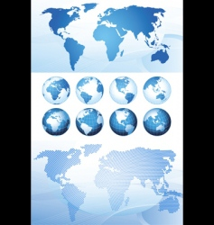 global series and map background vector image