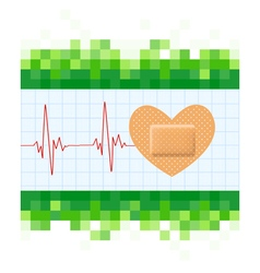 Heart shape medical plaster vector image