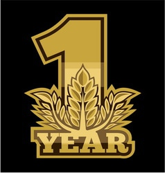 Laurel wreath 1 year vector image vector image
