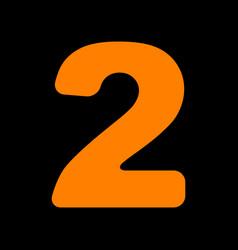 number 2 sign design template elements orange vector image vector image