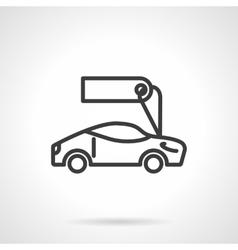 Sport car for sale black line design icon vector image