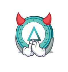 devil salt coin mascot cartoon vector image