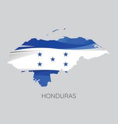 map of honduras vector image vector image