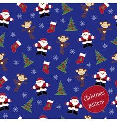 Monkey Happy new year pattern vector image