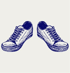 Sports shoes vector image vector image