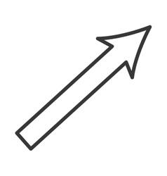 arrow up growth icon vector image vector image