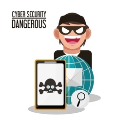 Cyber security and smartphone design vector image