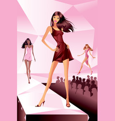 fashion models represent new collection vector image vector image