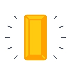 Gold bullion icon vector