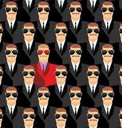 Secret agents A spy among agents Seamless pattern vector image vector image