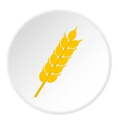 Wheat ear icon circle vector