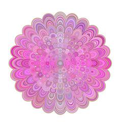 abstract floral mandala art - digital graphic vector image