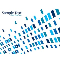 blue mosaic effect vector image