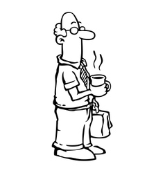 Business man employee having coffee vector image vector image