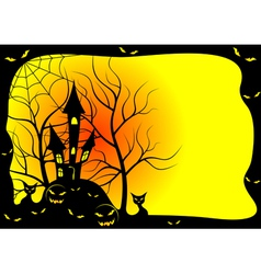 card for halloween vector image vector image