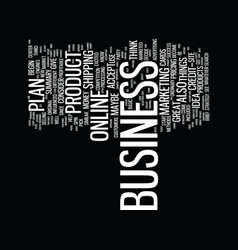every business needs a plan text background word vector image