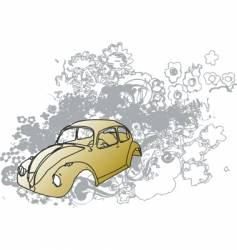 Groovy bug illustration vector