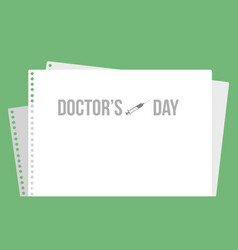 international doctor day card style vector image