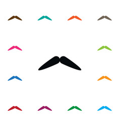 Isolated barber icon moustache element can vector