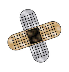 medical plaster icon bandaid element first aid kit vector image