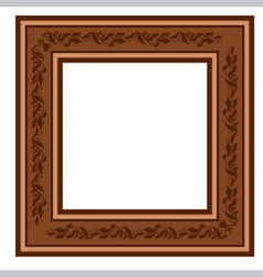 vintage retro frame with foliage vector image vector image